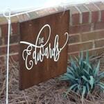 Personalized yard flag - custom yard sign