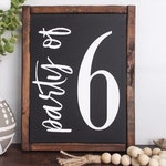 Party of 6 sign - gallery wall decor