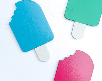 Interchangeable popsicle piece - interchangeable home sign