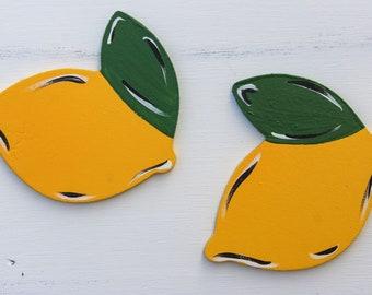 Lemon interchangeable pieces - spring summer pieces - home sign