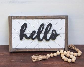 Hello sign - 3d farmhouse decor