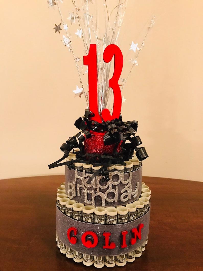 Awe Inspiring Birthday Money Cake Unique Birthday Gift Birthday Gift Etsy Personalised Birthday Cards Veneteletsinfo