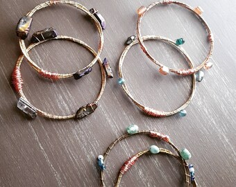 Guitar String Bangle Bracelets