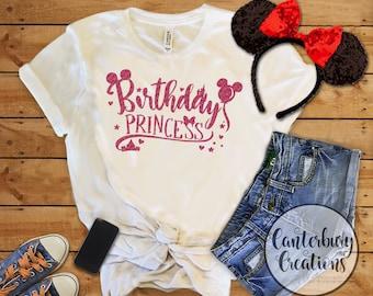 Disney Princess Birthday Shirt