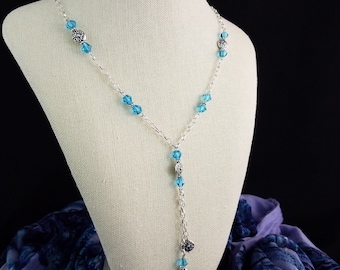 Turquoise Bali Drop Necklace & Earring Set