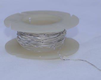 925 silver box chain at 0.65 mm cut