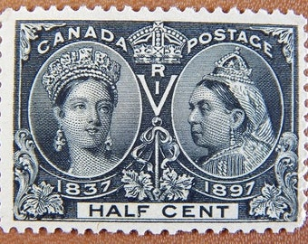 MLH Canada 1897 Sg 121 Sc 50 Half Cent Jubilee Issue Black CV 120