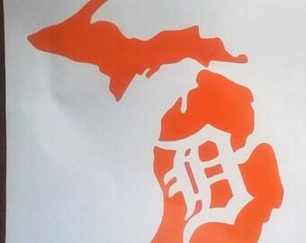 Michigan Detroit Tigers decal
