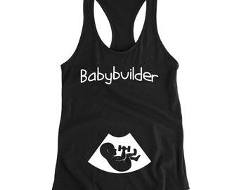 37deb41820a58 Pregnancy shirt, Maternity workout shirt, Pregnancy gift, Pregnancy reveal,  Preggers shirt, Announcement shirt, Pregnant tank, Mom to be top