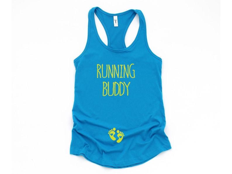 ee114b7f5bef8 Running Buddy Pregnancy announcement Pregnant running | Etsy