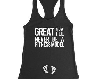 Pregnancy Announcement Shirt, Gender Reveal, Baby Announcement, Pregnancy Gift, Baby Shower Gift, Mom Gift, Now I'll Never Be A Fitnessmodel