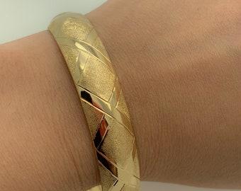 ecbde4f1e6e73 10k gold bangle | Etsy