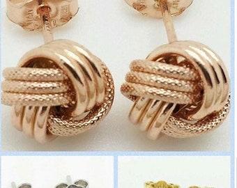 2be06354f5145 14k knot earrings | Etsy