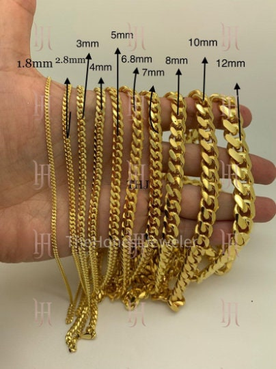 """Details about  /AUTHENTIC 925 STERLING SILVER MIAMI CUBAN LINK CHAIN 3.4mm-8.3mm 7/""""-30/"""""""