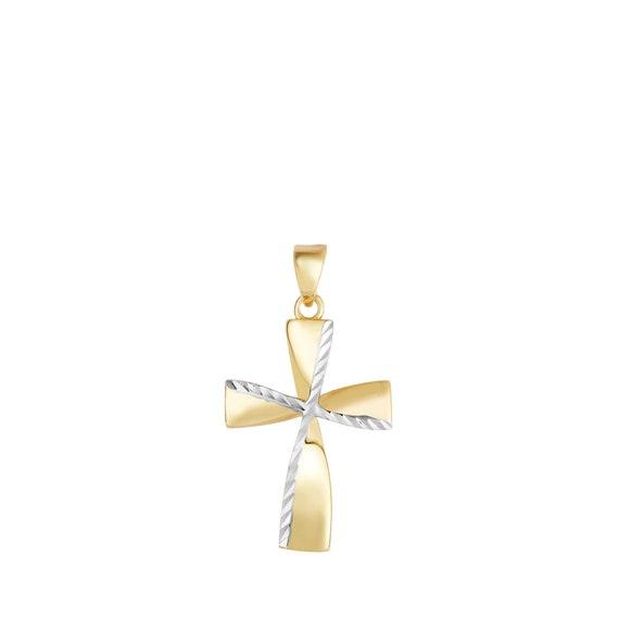 environ 3.05 cm 14k solide jaune blanc or rose Sainte Vierge Marie Pendentif Charm Long de 1.20 in