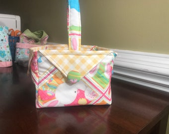 Quilted Fabric Easter Basket