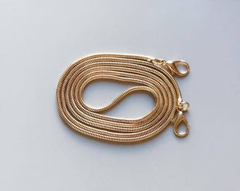 Bag Chain Strap for Handbag / Shoulder Bag Replacement Snake Chain 120 cm x 3 mm GOLD