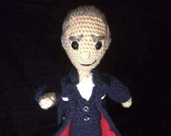 Made to Order 12th Doctor Who Crocheted Amigurumi-Peter Capaldi w/Free gift