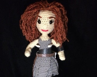 Made to Order Crocheted River Song Amigurumi-Alex Kingston w/Free gift