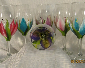 Lily wine glasses