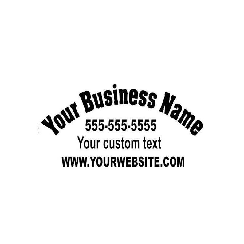 Custom Business Name Vinyl Window Car Van Truck decal