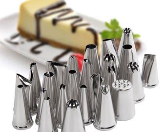 24pcs Icing Piping Nozzle Tips Set Cake Decorating Set Baking Cake Decorating Tool
