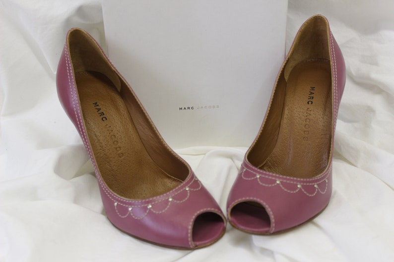 e543823ce14 Marc Jacob Calf Susy Raspberry Heels