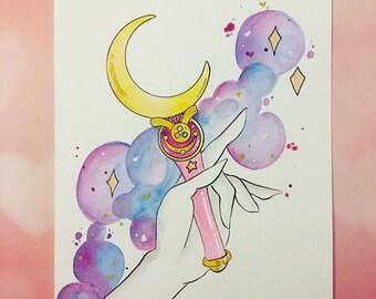 Sailor moon tarot design