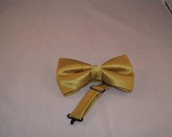 Gold Bow Tie + Pocket Square Set
