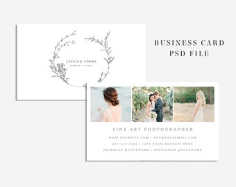 photography business card template photoshop business card instant download business card photography stationary template psd template