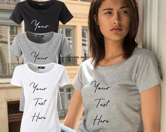 afd149f69 Personalized Womens t shirt Custom Glitter Shirt Design Your Own Glitter Shirt  Create Your Own Your Design Here Fully Custom Design