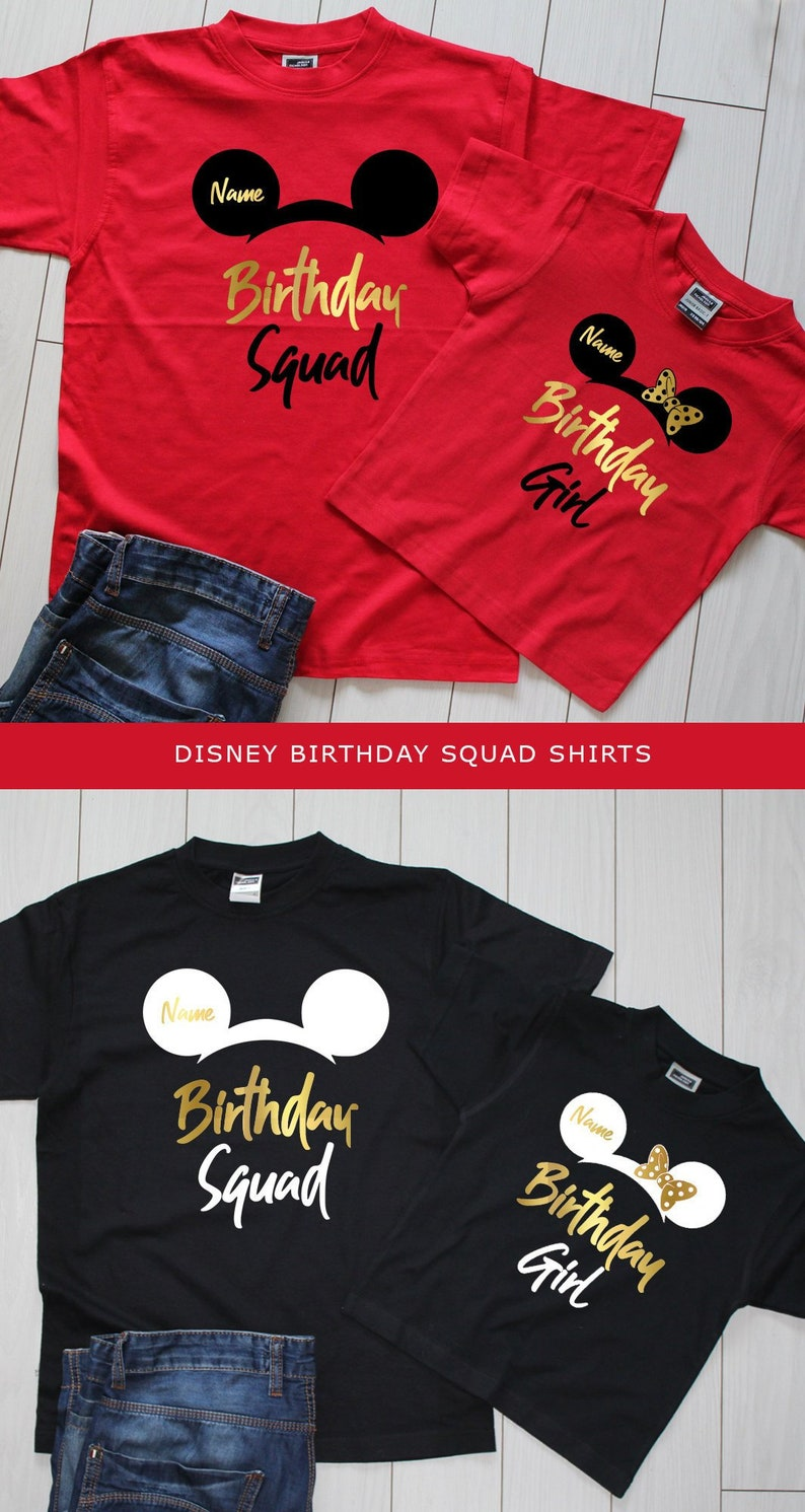 Disney Birthday Squad Shirts Girl Shirt