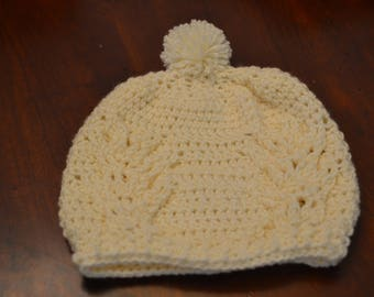 """Cream """"Staghorn"""" Slouch Hat Adult Size"""