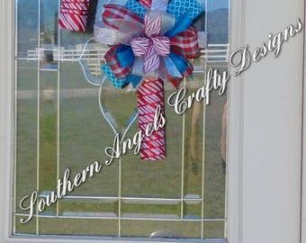 Christmas Peppermint Candy Cane Door Hanger