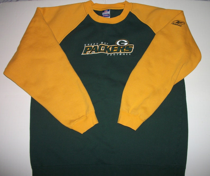 finest selection 6e927 be140 Green Bay Packers NFL Embroidered REEBOK Sweatshirt Size Large