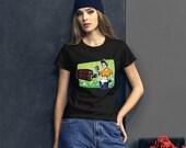 Franken-Rosie Women 39 s Anvil Fashion Fit Tee