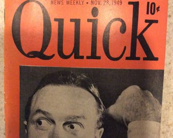 Quick news weekly, Nov 28 1949 Bob Hope
