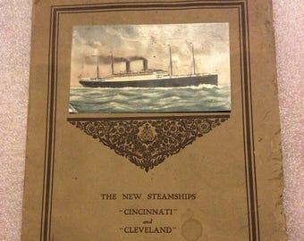 Steamship advertising book 1909