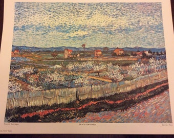"Penn Prints New York VanGogh ""Peach Orchard """