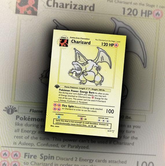 Gold Charizard Base Set Alternate Art Secret Rare Limited Edition Custom Art Pokemon Card