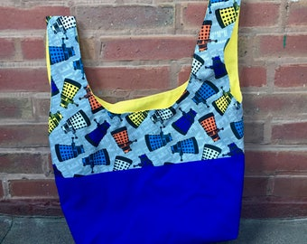 Exterminate! Blue Tote Bag