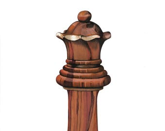 Chess Piece Drawing- Limited Edition Print