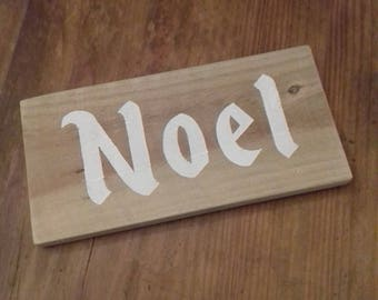 Wooden NOEL Christmas Sign - Handmade Rustic Home Decor