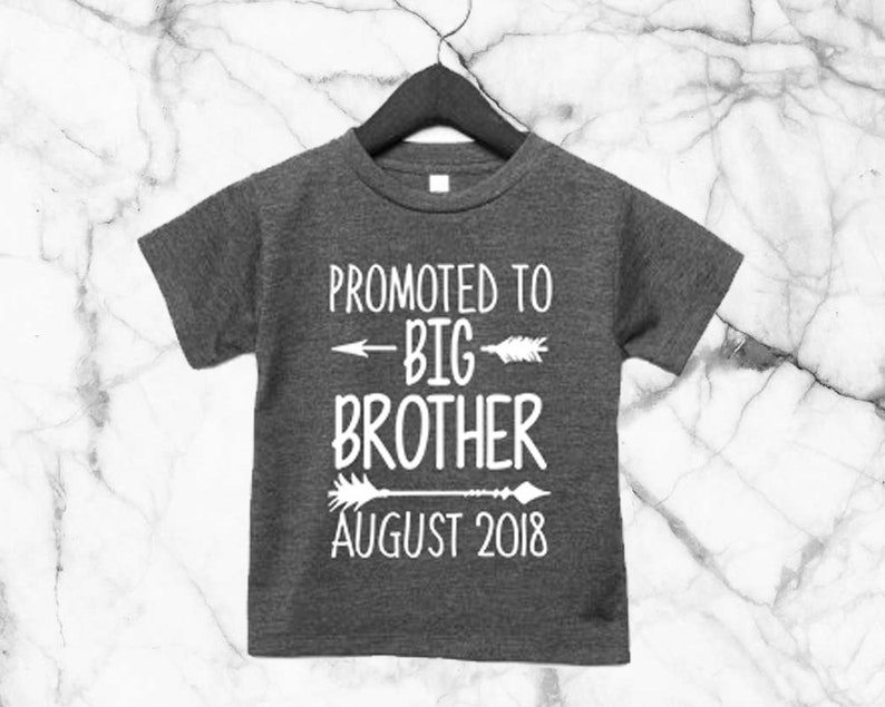 5b3b6e187703 Promoted To Big Brother CUSTOM DATE Baby T Shirt Baby