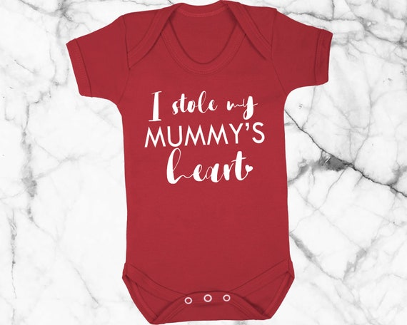 I Stole Mummy/'s Heart Valentines Boys Girls Newborn Toddler Baby Bib