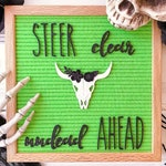 Bull Skull Letter Board Accessory and Icon
