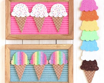 Ice Cream Cone Letter Board Icons & Accessories | Pick and Choose