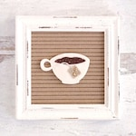 Teacup Letter Board Accessory and Icon