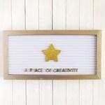 Gold Star Letter Board Icon / School Letter Board Accessory / Letter Board Ornament