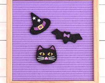 Halloween Cat, Hat, Bat Letter Board Accessories and Icons